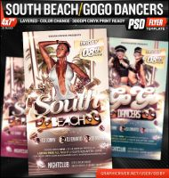 South Beach / GoGo Dancers Flyer Template by deiby