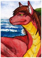 ACEO - Crimson by Naseilen