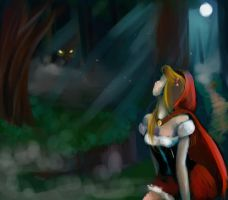 Red Riding Hood All Alone by morosemordant