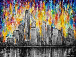 NEW YORK CITY  Limited edition giclee by Leonidafremov