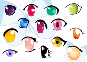 Anime Eyes by AngelRachelle