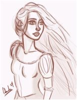 Rapunzel sketch by cobweb59