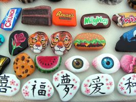 Misc. Painted Rocks 3 by Nevuela