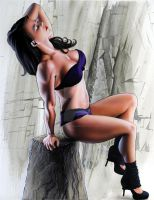 Bodybuilding-pinup by PinUpPaintings