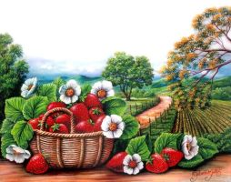 Strawberries by Gilberto-Mattos