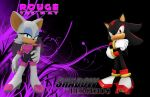 Shadow And Rouge - Wallpaper by Knuxy7789
