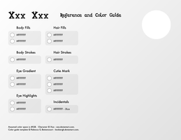 Reference and Color Guide Template by BeckieRGB