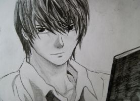 Light Yagami by sandralinnea