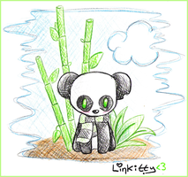 panda. bamboo. sky. by linkitty
