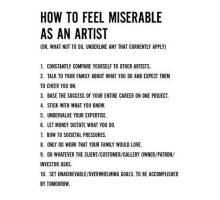 Miserable Artist guidelines by joverine