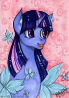 Flower Series: Twilight Sparkle by MadBlackie