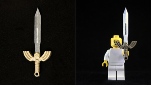LEGO 3D Printed Painted Seashell Sword by mingles