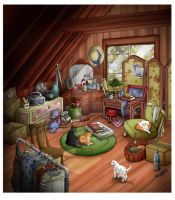 Cats in the attic by Zzzeus