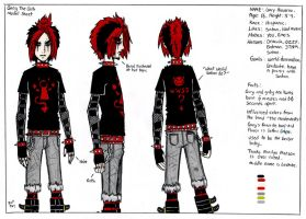 Gary The Goth Model Sheet by TheMonkeyYOUWant