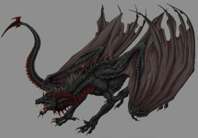 Black Dragon without BG by Sheranuva
