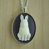 White Rabbit Necklace by MonsterBrandCrafts