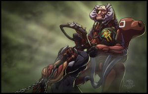 Captain Vor and Nyx by Syncrasis