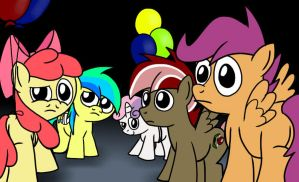 Rainbow Factory - The Fillies... and Orion by petirep
