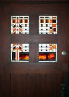 Stained glass front door by zapfino