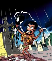 Spider-Man vs. Kraven by brodiehbrockie
