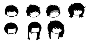 Homestuck Hair Base by FantrollAuctions