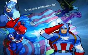 MVC2 Captain America Wallpape by edwards1206