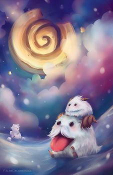 Poro wants Cookie by FalseDelusion