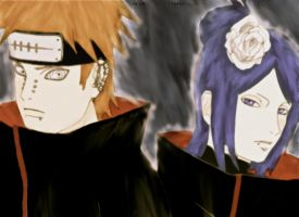 Pein and Konan by doll-fin-chick