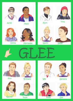 Glee - characters by Tez-zah