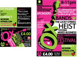 Oxjam Poster and Flier by lSpeeDl