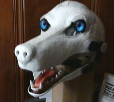 Commissioned Wolf Mask WIP by MaewynShadowtail