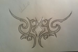 Random shoulder blade tattoo design by Nathandavis42