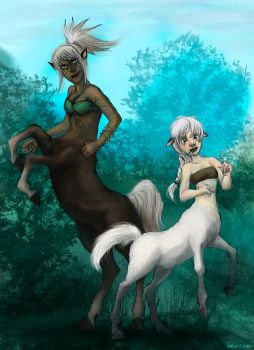 Centaurs by Mintomay
