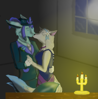 Slow dance with me in the candlelight... by BlueWolf114