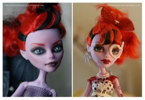 Repainting VS Factory Makeup: Operetta by MySweetQueen-Dolls