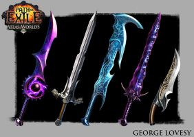 Path of Exile Swords by GeorgeLovesyArt