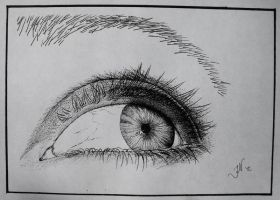 An Eye Study III by JoannaMoory