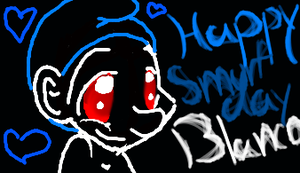 Blanco Smurf (B-day gift) by SamoanPrincess555