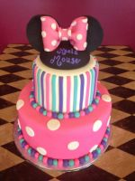 Minnie Mouse Tiered Cake by TheSugarBaby