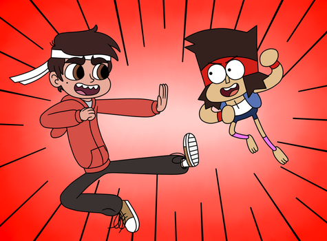 Let's Be Epic Battle with Marco Diaz vs KO by Deaf-Machbot