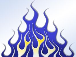 Flames - blue and yellow by jbensch