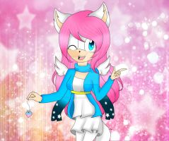 .:comission:. Lovely the angeldemon wolf by xXCristy-NnaXx