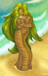 Palm Tree Dryad Wraith by AkuOreo