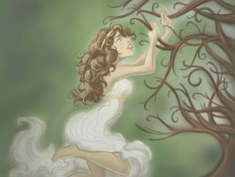 persephone and the wych elm by LisaBueno