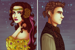 Anakin and Padme by 7Lisa