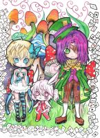 Alice and friends by ToxicBlack