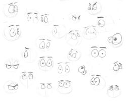 Practice Cartoon Eyes by shortdevilguy