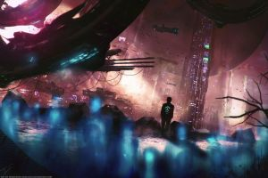 Sci-fi Novel 'Evolution' Concept Art by Eddy-Shinjuku
