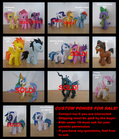 Ponies for sale by AleximusPrime