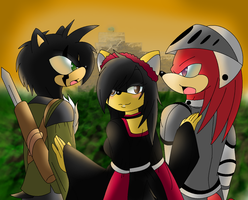 .:PC1/2:. ICK x Michelle x Knuckles Love Triangle by EMMYtheK